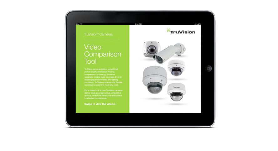 TruVision Comparison Tool on an iPad