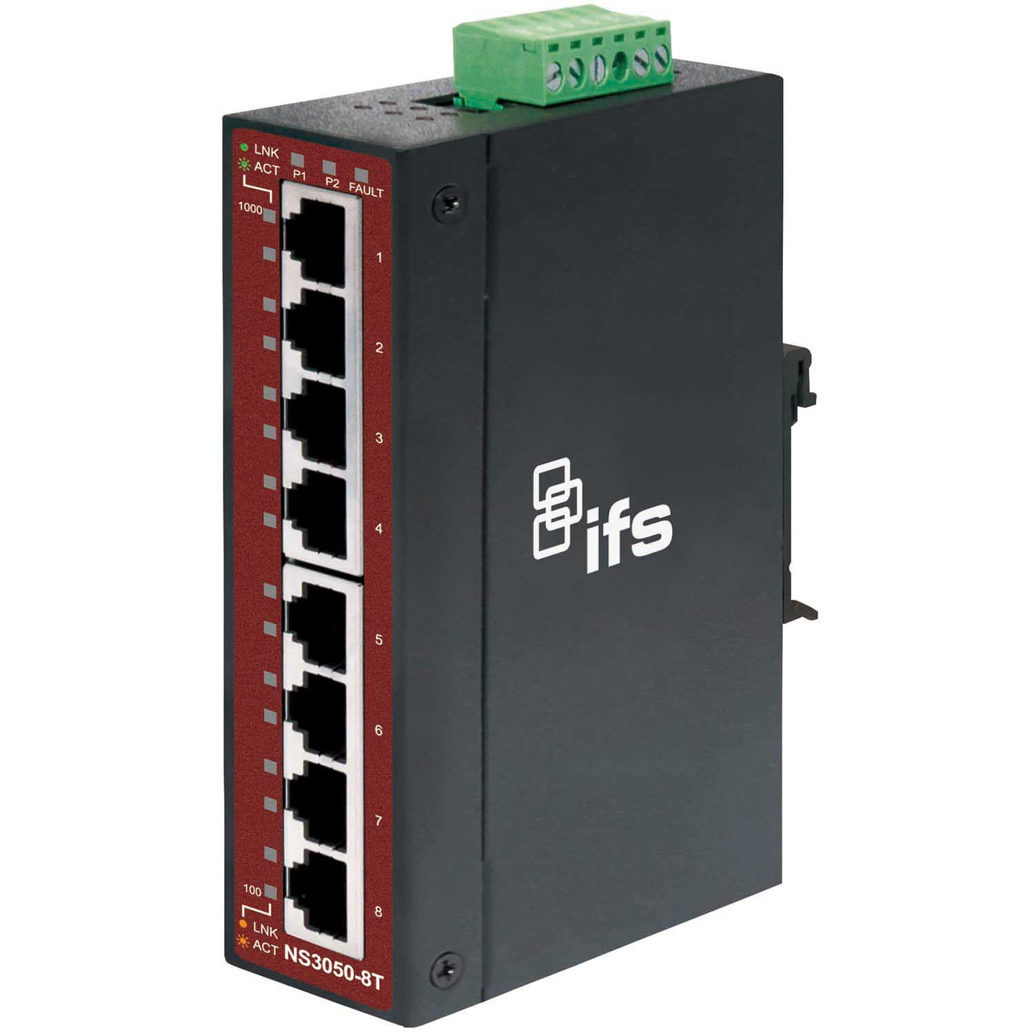 Ifs 8 Port Unmanaged Industrial Ethernet Switch